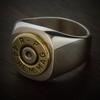 Marksman Bullet Ring in Sterling Silver