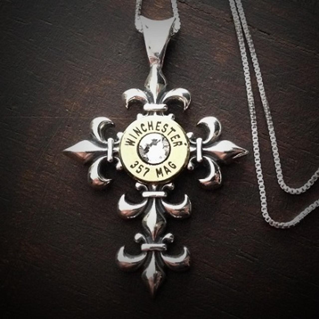 c6f04676f11 Fleury Cross Bullet Necklace in Sterling Silver - JECTZ