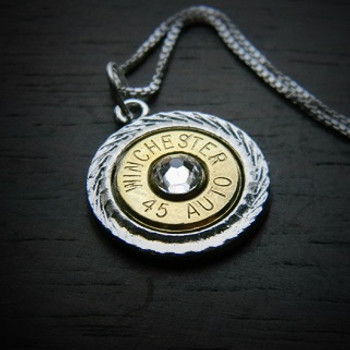 Diamond Cut Bullet Necklace