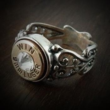 Women's 9mm Special Filigree Bullet Ring