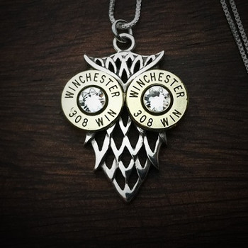 Owl Bullet Necklace Clear