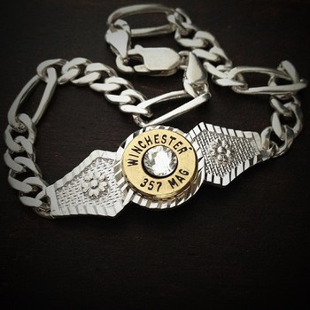 Diamond Cut Bullet Bracelet