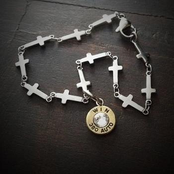 Cross Link Bullet Bracelet