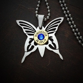 Butterfly Bullet Necklace