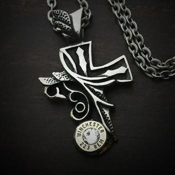 Divine Cross Bullet Necklace 2