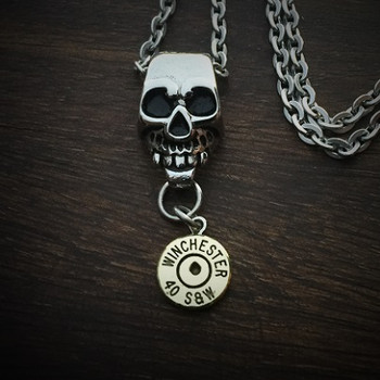 Skull Bullet Necklace