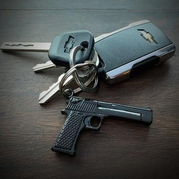 JECTZ® Stainless Steel Gun Bullet Keychain with Keys