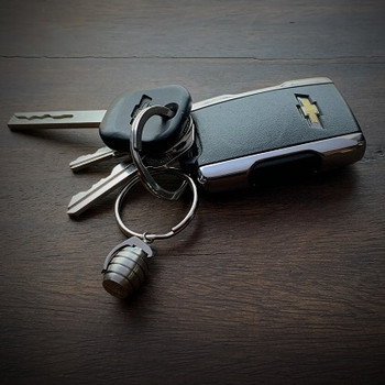 Stainless Steel Grenade Keychain with Keys