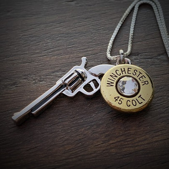 Women's Stainless Steel Gun Bullet Necklace