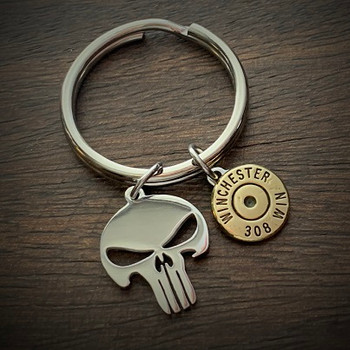 Punisher Bullet Keychain