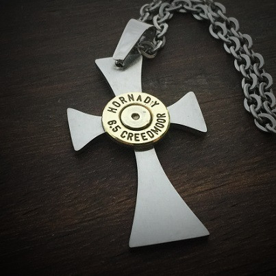 Forged Cross Bullet Necklace for Men2