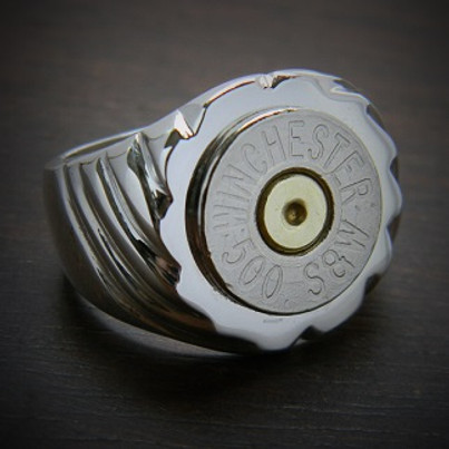Men's Top Shot Bullet Ring