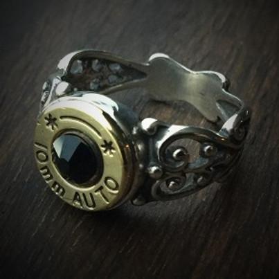 Women's 10mm Special Filigree Bullet Ring