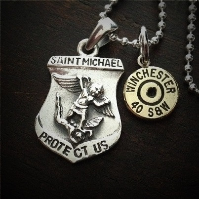 Saint Michael Bullet Necklace