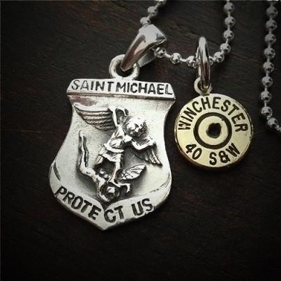 Saint Michael Bullet Necklace
