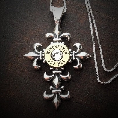 Fleury Cross Bullet Necklace