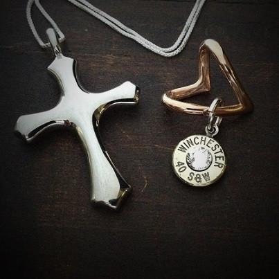 Cross My Heart Bullet Necklace 2