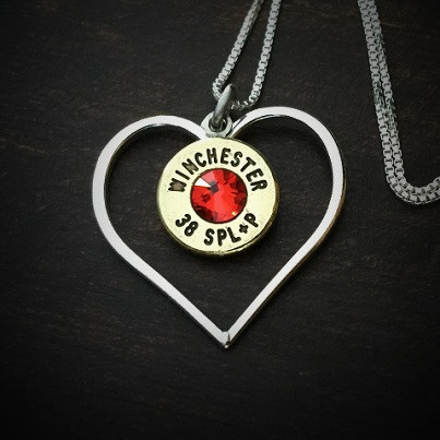 Perfect Heart Bullet Necklace