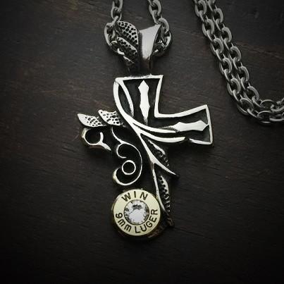 Divine Cross Bullet Necklace