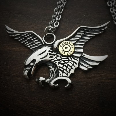 Eagle Bullet Necklace
