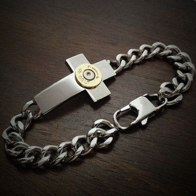 Forged Cross Bullet Bracelet