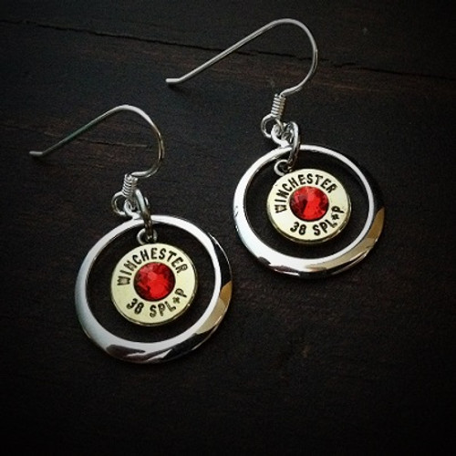 Ring of Fire Bullet Earrings