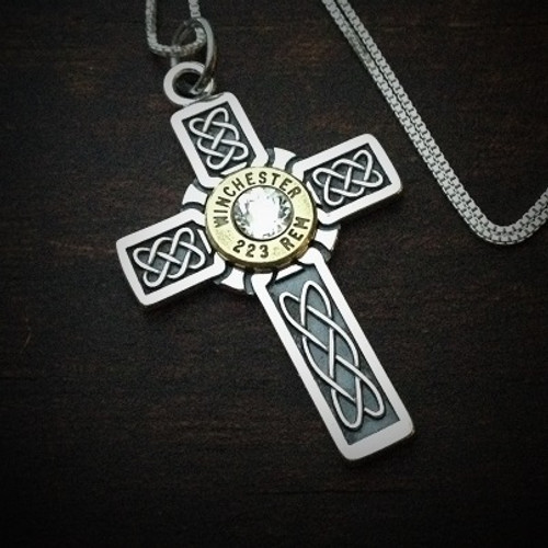 Armored Cross Bullet Necklace for Women