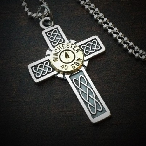Armored Cross Bullet Necklace for Men