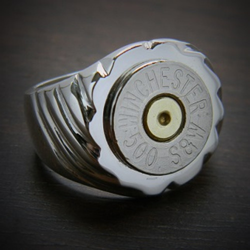 Men's Top Shot Bullet Ring