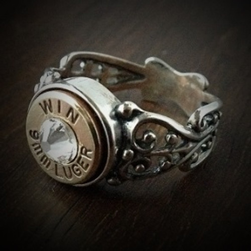 Women's 9mm Special Filigree Bullet Ring