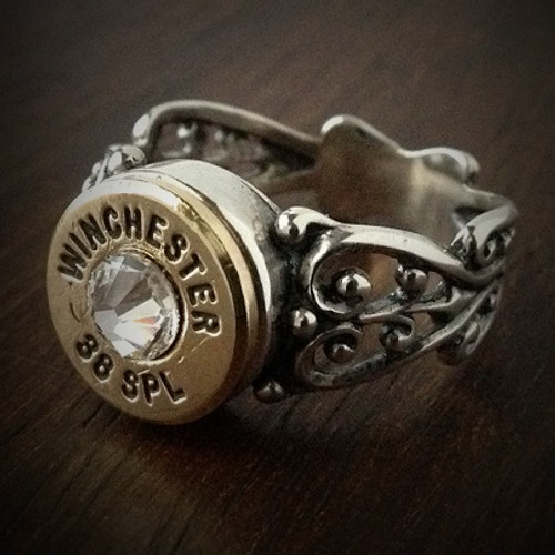 Women's 38 Special Filigree Bullet Ring