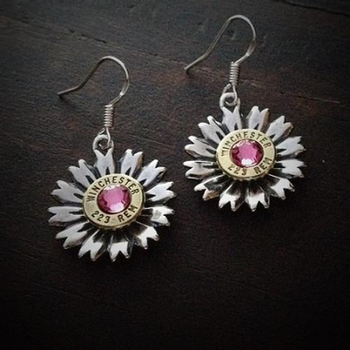 Flower Bullet Earrings