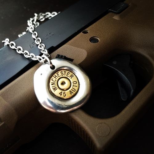 Impact Bullet Necklace for Men's Jewlery