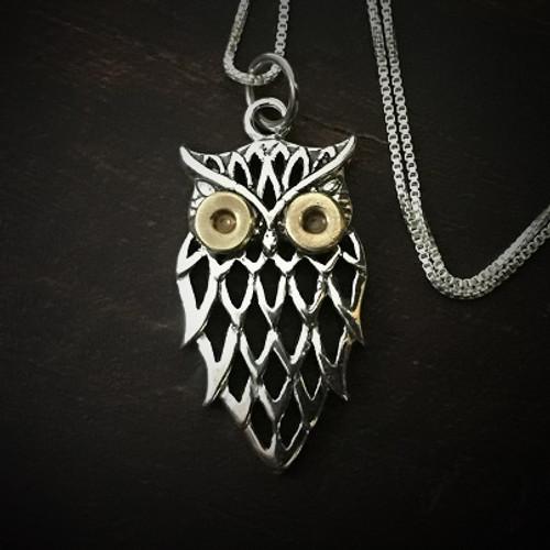 Primed Owl Bullet Necklace