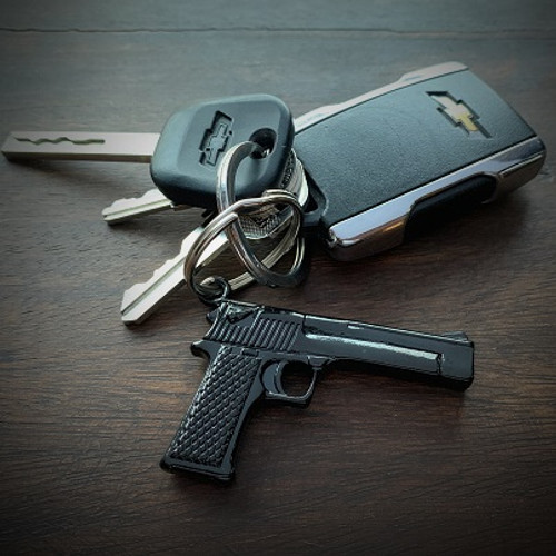 JECTZ® Stainless Steel Gun Bullet Keychain with Keys
