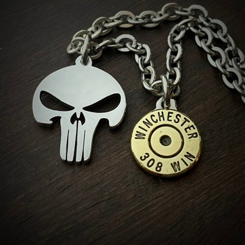 Punisher Bullet Necklace