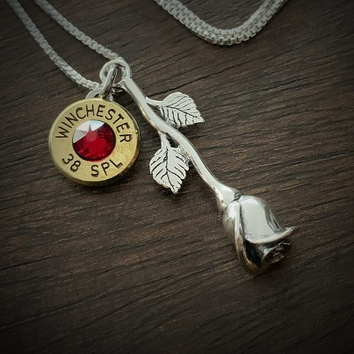 The Rose Bullet Necklace in Sterling Silver