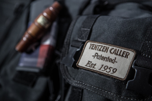 """YENTZEN CALLER PATCH (Hook and Loop or IRON ON)     From the inventors of the double reed, triple reed duck call, and the YENTZEN CALLER....   Our new popular YENTZEN CALLER Logo Patch that you can put on all your favorite hunting gear and show off your YENTZEN pride!!!  The first double reed patented in 1950 by George Yentzen and perfected by World Champion and Hall of Fame Member, James """"Cowboy"""" Fernandez, YENTZEN CALLER stands as a Waterfowl Icon and timeless perfection with its sound and durability that's lasted over 60 years!    Let 'em know your call is the only call and has the waterfowl heritage and history to back it up, with the YENTZEN patch!"""