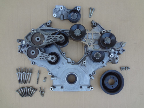 2003 - 2004 MUSTANG COBRA SUPERCHARGER TIMING COVER , PULLEYS , BRIDGE & HARDWARE