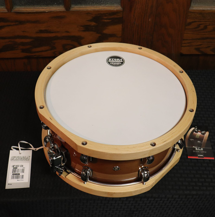 "Tama LMP1465FSEN 6.5x14"" S.L.P. Series Maple Snare Drum with Wood Hoops Sienna Maple"