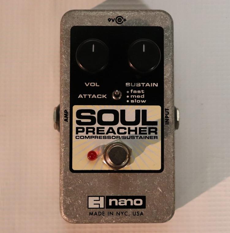 Electro-Harmonix Soul Preacher Nano Compressor / Sustainer Cream / Black