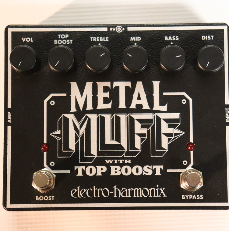 Electro-Harmonix Metal Muff Distortion with Top Boost Black