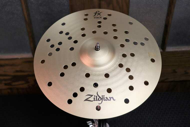 """Zildjian 14"""" FX Stack Cymbals (Pair) with Mount Traditional"""