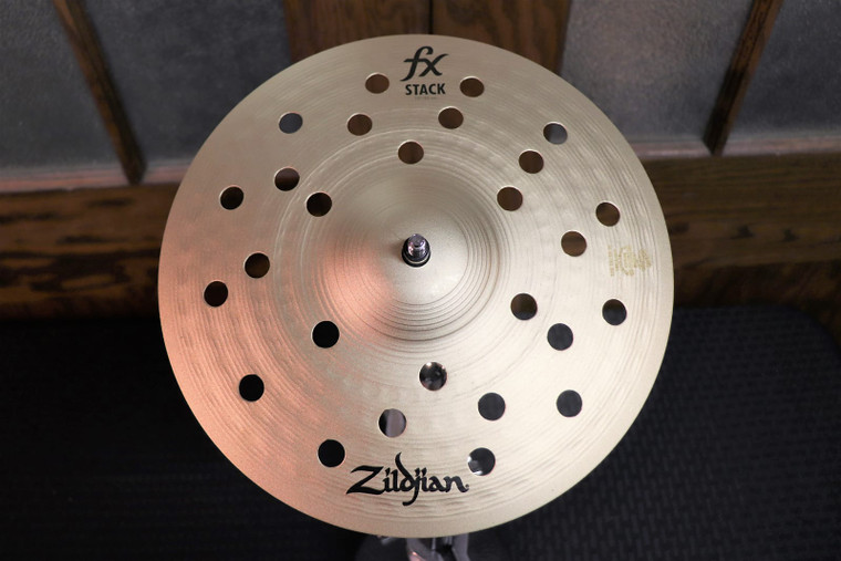 "Zildjian 10"" FX Stack Cymbals (Pair) with Mount Traditional"