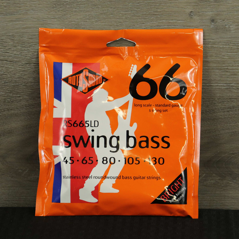 Rotosound RS665LD Swing Bass 66 Roundwound Long Scale 5-String Bass Strings - Heavy (45-130) Standard