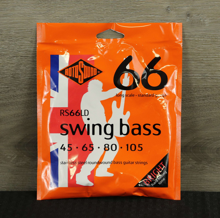 Rotosound RS66LD Swing Bass 66 Long Scale Bass Strings 45-105 Steel