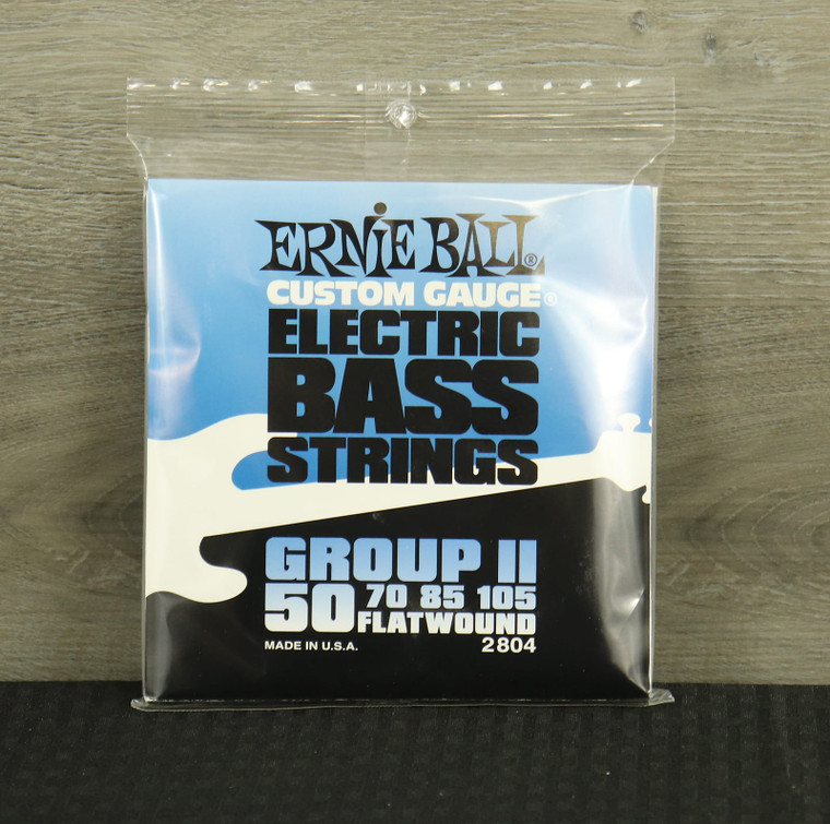 Ernie Ball 2804 Flatwound Group II Electric Bass Strings (50-105) Silver
