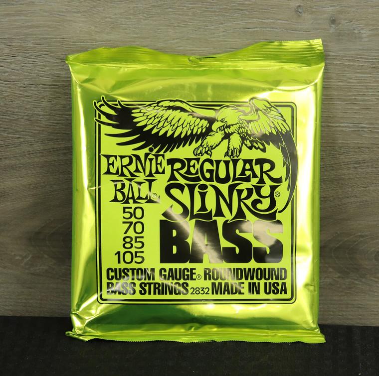 Ernie Ball 2832 Regular Slinky Round Wound Electric Bass Strings (50-105) Silver