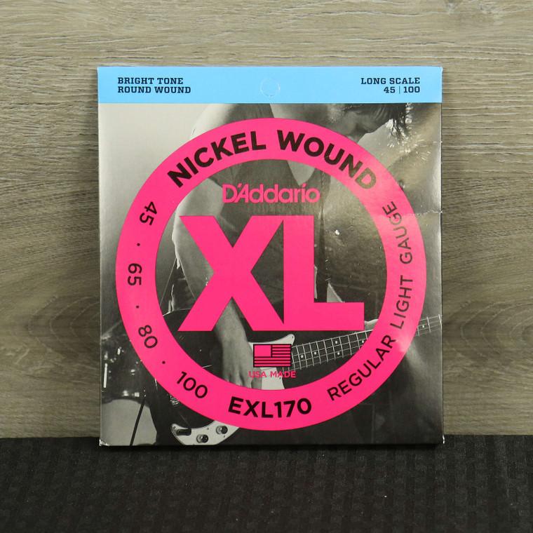 D'Addario EXL170 Nickel Wound Bass Guitar Strings Light 45-100 Long Scale Standard