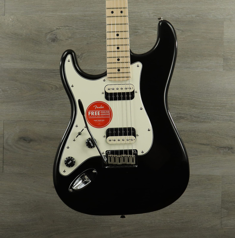 Squier Contemporary Stratocaster HH Left-Handed with Maple Fretboard Black Metallic